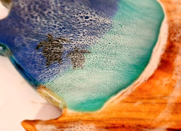 Resin Art Turtle charcuterie board