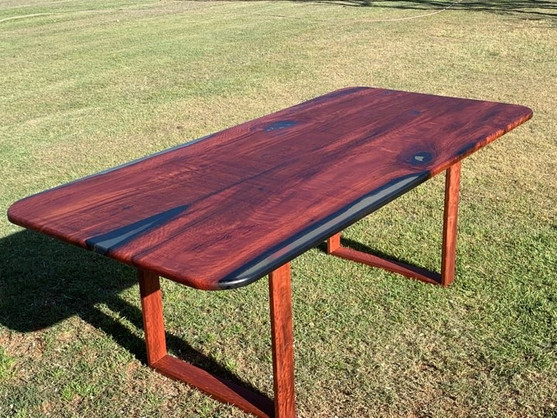 Bookmatched Blue Gum dining table