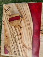 Camphor Laurel and bright red resin board