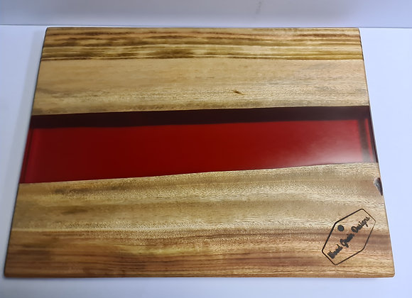 Fruit Collection  - Strawberry timber and resin serving board