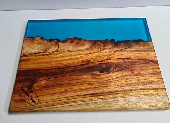 """Ocean Collection - ''The cliffs"""" timber and resin serving board"""