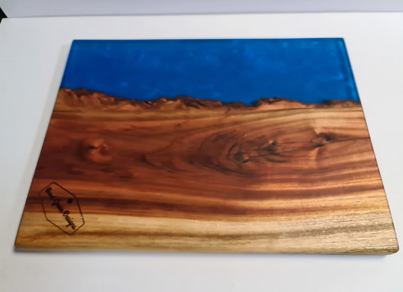 """Ocean Collection - """"The Deep"""" timber and resin serving board"""