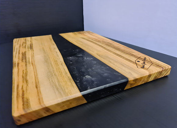 Pearl Collection - Nightsky timber and resin serving board