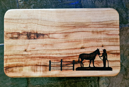 Camphor Laurel Cutting Board with laser engraving