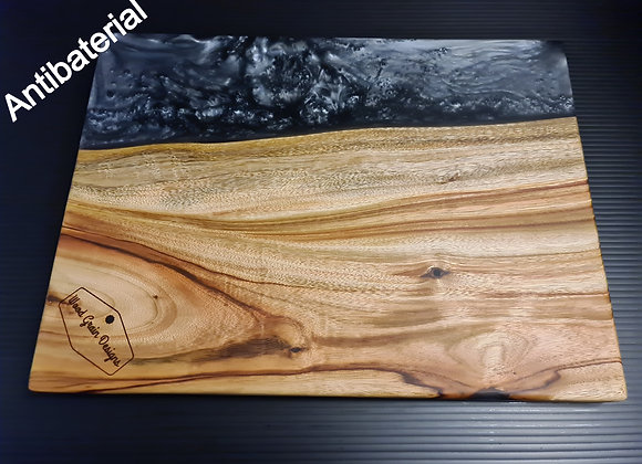 Pearl Collection - Silver Pearl timber and resin serving board