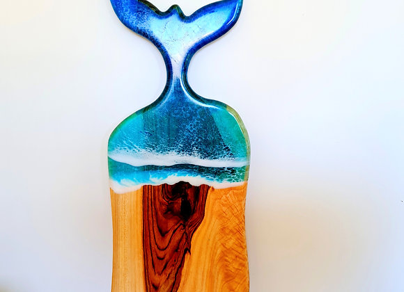Whale tail resin charcuterie board