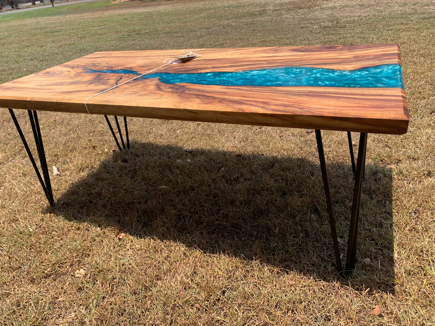 Camphor Laurel and resin coffee table