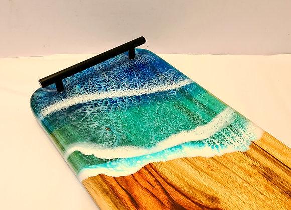 Ocean Resin Art Grazing Serving Board