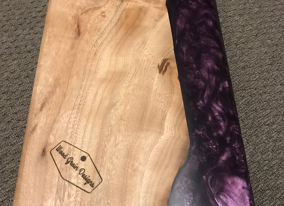 Purple pearl timber and resin serving/cutting board