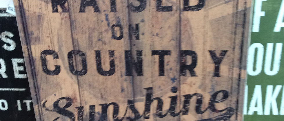 country sunshine sign