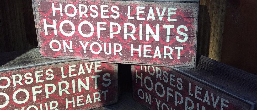 hoofprint block sign