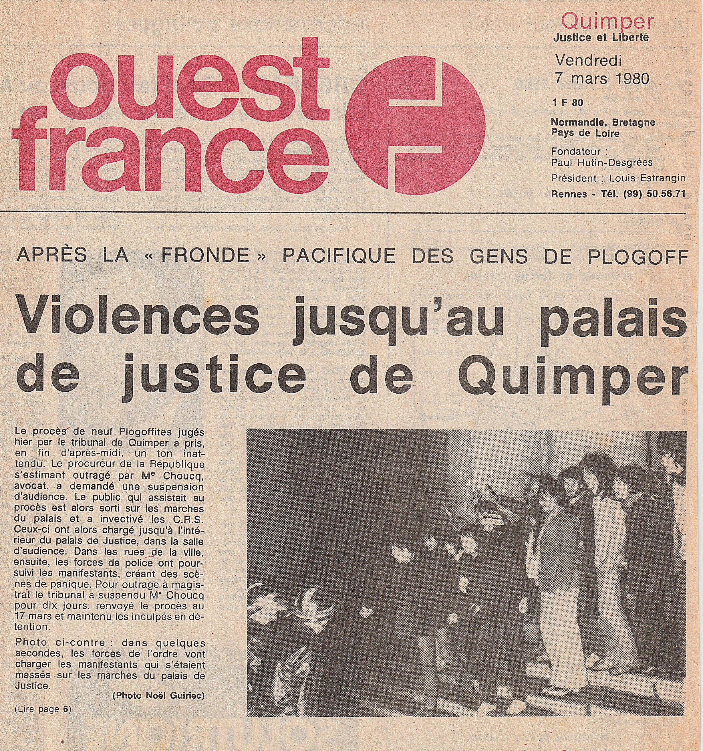 Violences palais de justice de Quimper 7