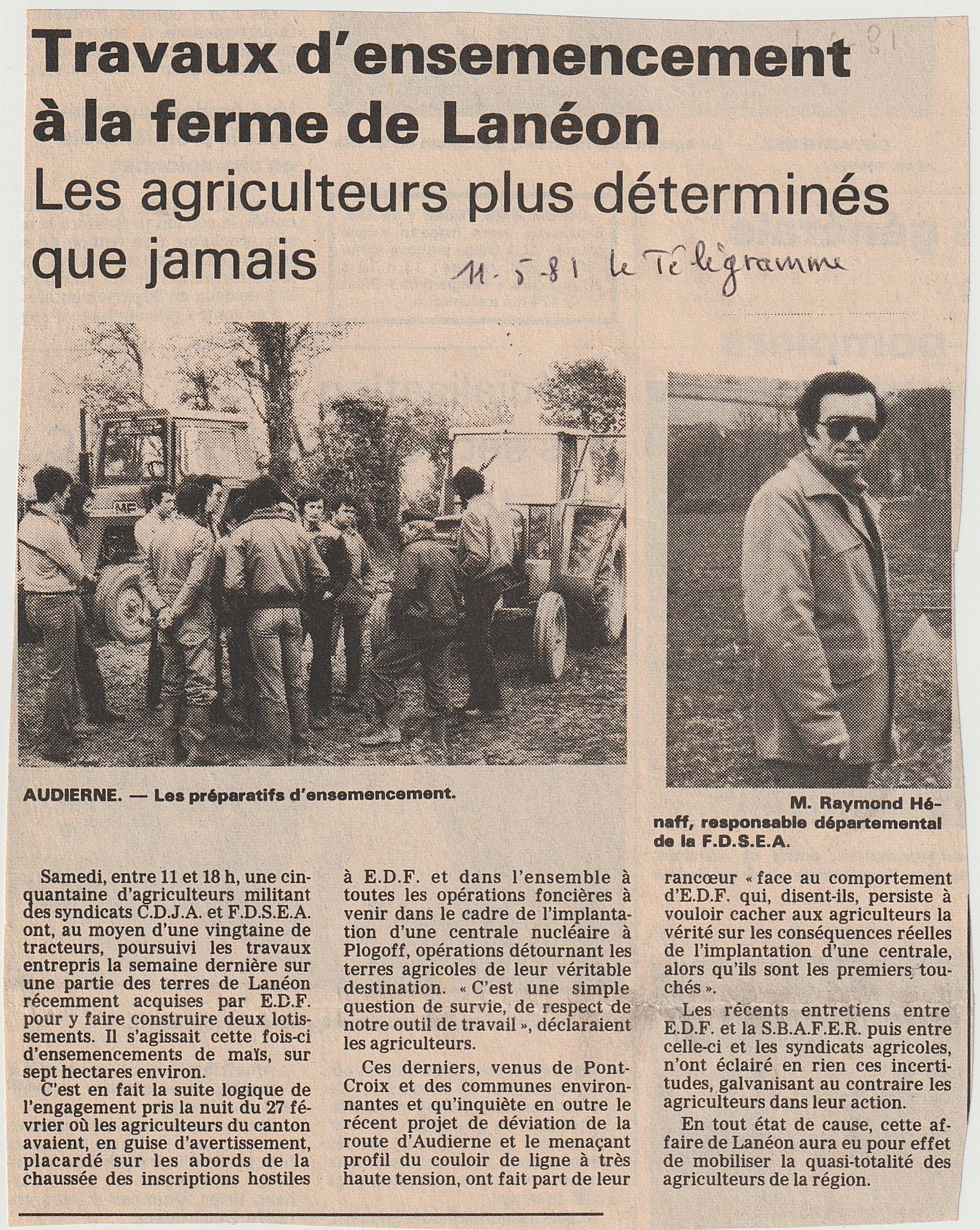 Ensemencements à Lanéon Le Télégramme 11