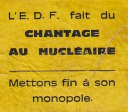 EDF chantage au nucléaire