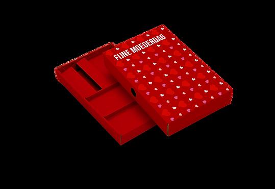 Moederdag verpakking rood