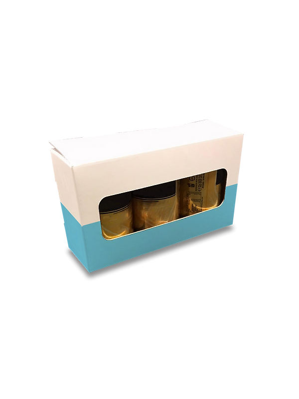 Bierverpakking - drie bierblikken