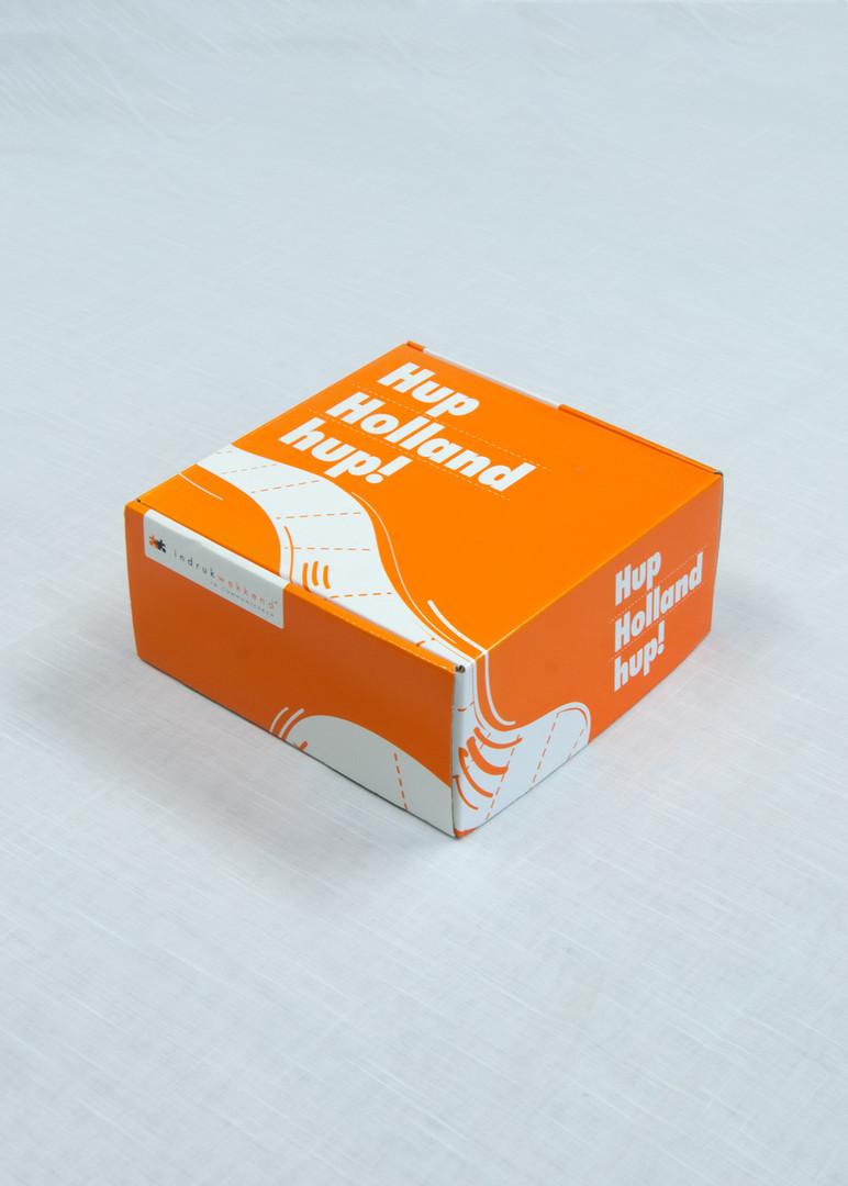 Oranje doos dicht