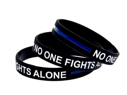 3pc No One Fights Alone - Wristband