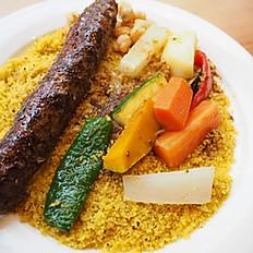Shish kebab (beef) Couscous