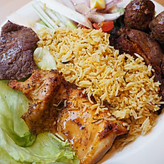 Mix grill with Kabsa