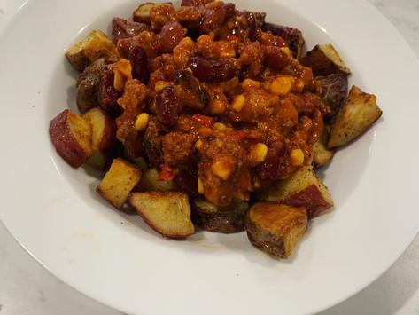 Chili Roasted Potatoes 🌶 🥔