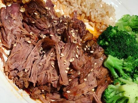 SLOW COOKER KOREAN BBQ BEEF 🥩