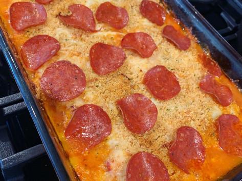EASY CHICKEN PIZZA BAKE 🐔 🍕 ⏰