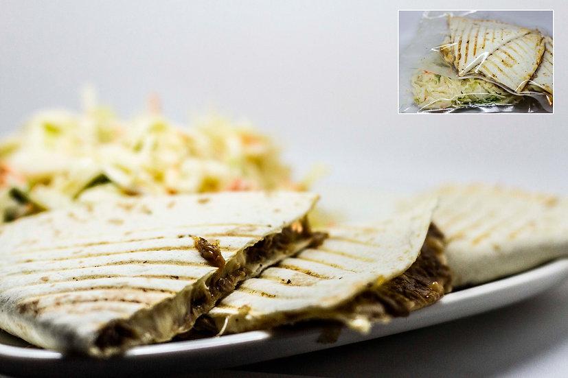 monterrey quesadilla kevert zöldsalátával