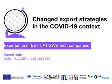 "Webinar ""Changed export strategies in the COVID-19 context"""