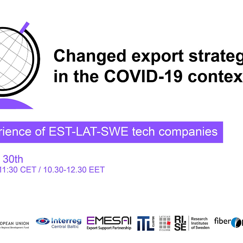 """Webinar """"Changed export strategies in the COVID-19 context"""""""