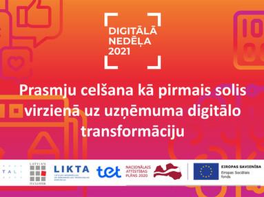 """24. martā tiešsaistes pasākumi """"Digitālās prasmes uzņēmējiem"""""""