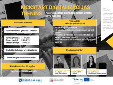 Kickstart digitalizācijas treniņš Zemgales mazajiem un vidējiem uzņēmumiem