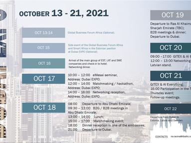 """""""EXPO 2020 Dubai"""" un """"GITEX"""" apmeklējums"""