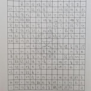 看圖作文中學乙組第二名 爾灣中文學校徐敏維1