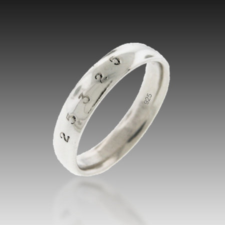 14kt 5mm WG Classic Band of Infinity