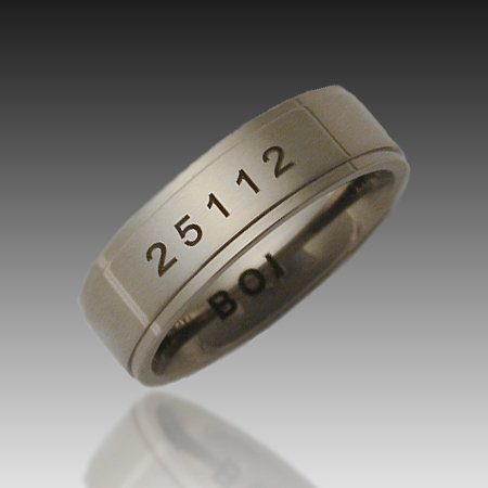 7mm Titanium Band of Infinity - Laser Etched