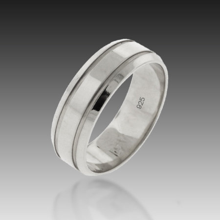 7mm Flat Top Band of Infinity Sterling Silver