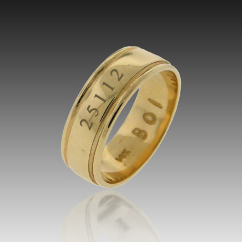 14k Yellow Gold Original 7mm Band of Infinity™