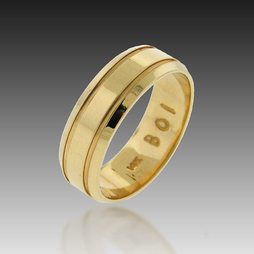 14k Yellow Gold 7mm Flat Top Contour Band of Infinity™