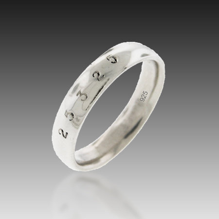 5mm Classic Band of Infinity Sterling Silver