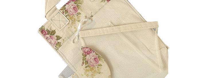 Vintage Floral Kind Shopper Kit - 6 shopper bags, 3 produce bags, 1 mask