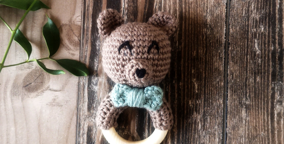 Eco Teething Ring - Collect Me Bow Bear