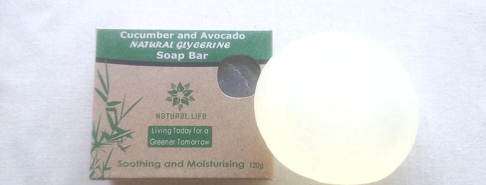 Natural Soap - Cucumber and Avocado