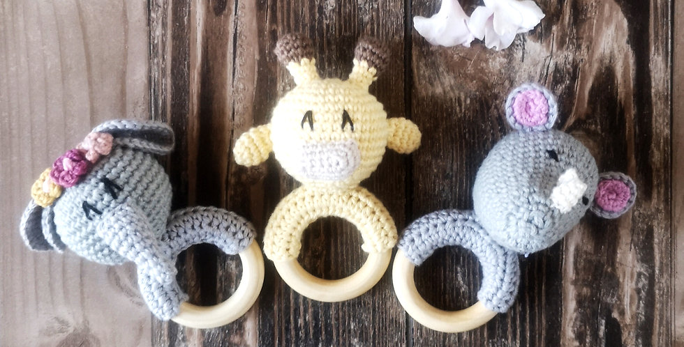 Eco Teething Ring - Collect Me Safari Set