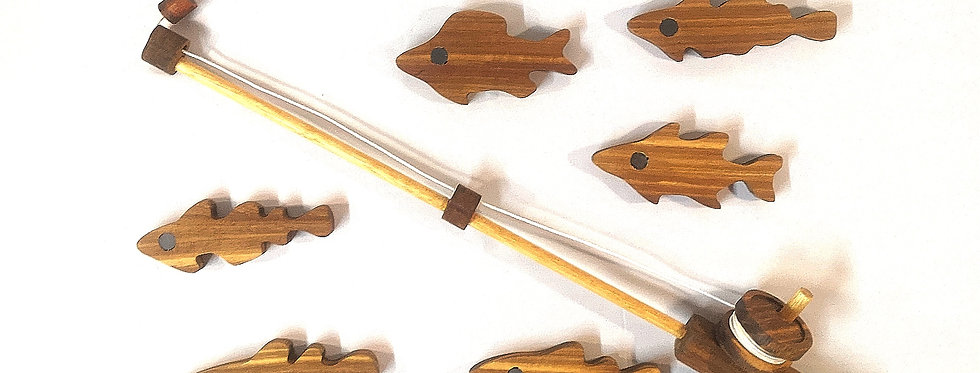 Fishing Rod Set - Kiaat Wood
