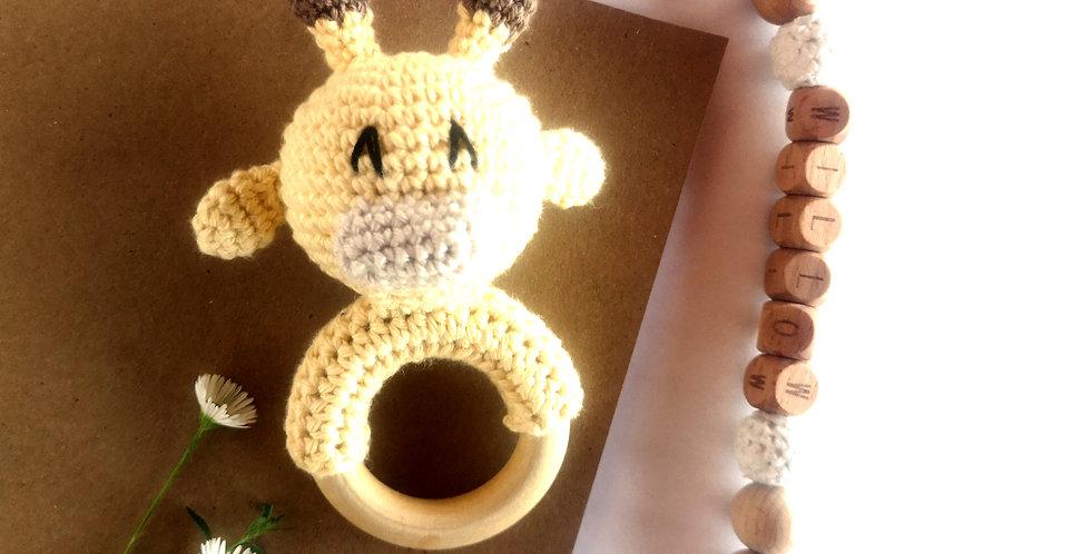 Personalized Eco-baby Gift Set - Giraffe