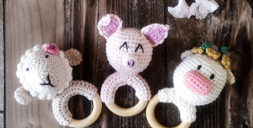 Eco Teething Ring - Collect Me Farm Set