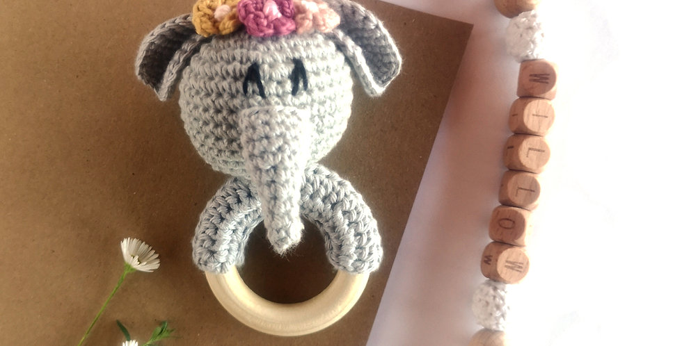 Personalized Eco-baby Gift Set - Elephant