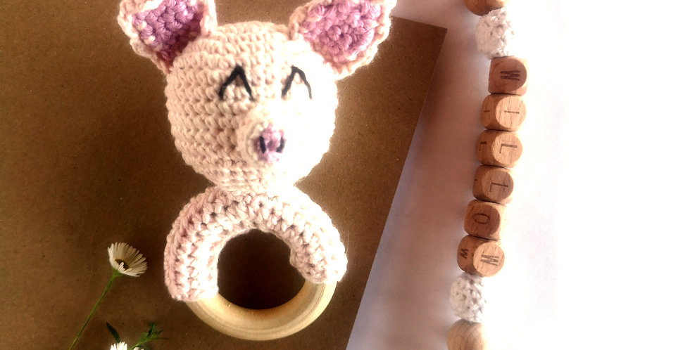 Personalized Eco-baby Gift Set - Piglet