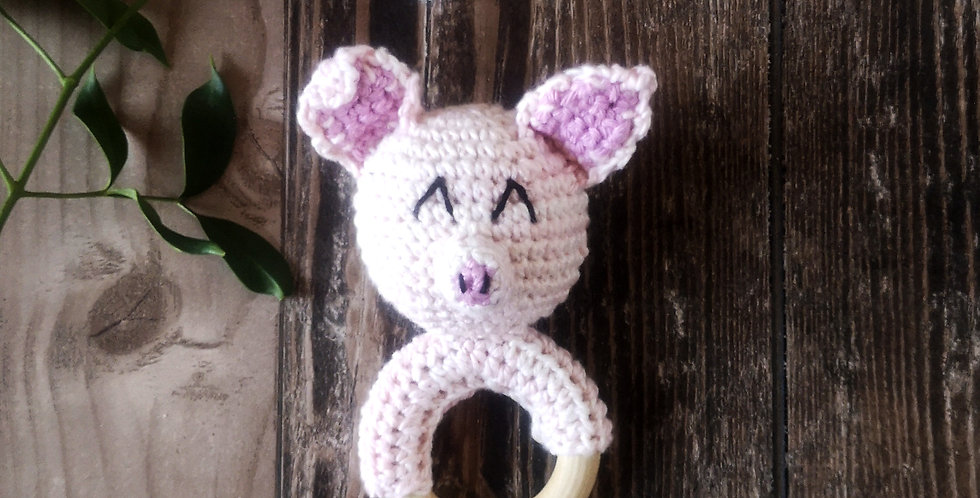 Eco Teething Ring - Collect Me Piglet